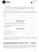 Form E1 - Electricity And Electrical Energy License Tax Report