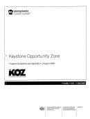 Program Guidetines And Application Log - Keystone Opportunity Zone - 2008 - Pennsylvania Department Of Community And Economic Development