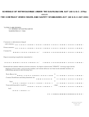 Standard Form 1093 - Schedule Of Withholdings Under The Davis-bakon Act And/or The Contract Work Hours And Safety Standards Act - 1971