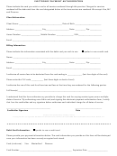 Electronic Payment Authorization Form