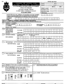Form Er-c - Form For Change Of Status For Existing Business Acount - City Of Pittsburgh