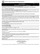 Form Wv-284 - Instructions Authorization Of Power Of Attorney