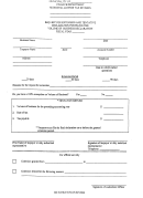Request For Extension And Tentative Declaration Form