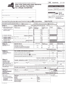 Form St-102-mn - Quarterly Sales And Use Tax Return For Single Jurisdiction