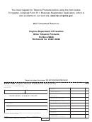 Form Tt-8 - Virginia Tobacco Products Tax Return