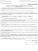 Statement Form Of Contingent Domestication-foreign Limited Liability Company - 1995