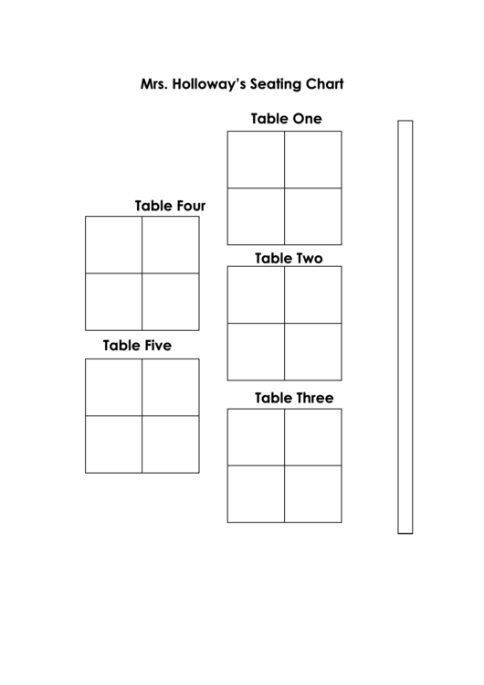 Sample Seating Chart Template