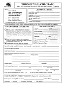 Application For Business And/or Sales Tax License Form