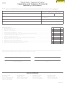 Form M-19 - Cigarette And Tobacco Products Monthly Tax Return Form - State Of Hawaii - Department Of Taxation