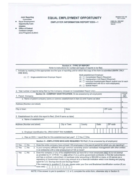 Standard Form 100 - Employer Information Report - 2006