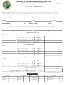 Passenger Carrier Report Form - 2003