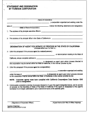 Statement And Designation By Foreign Corporation Form