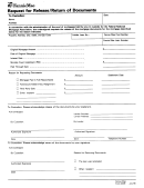 Form 2009 - Request For Release/return Of Documents Form - Fanniemae