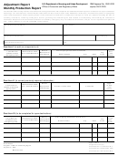 Form Hud-304 - Adjustment Report - Monthly Production Report Template - U.s. Department Of Housing And Urban Development
