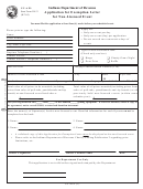 Form Cg-ael - Application For Exemption Letter For Non-licensed Event July 2005