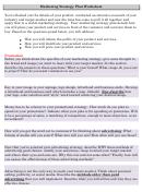 Marketing Strategy Plan Worksheet Template