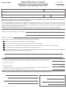 Form Hac - Application For The Home Accessibility Features For The Disabled Tax Credit - Virginia Department Of Taxation
