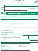 Form Ct-1040 Ext - Application For Extension Of Time To File Connecticut Income Tax Return For Individuals - 2005