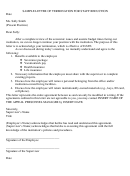 Sample Letter Of Termination For Staff Reduction Template