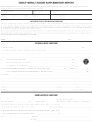 Group Weekly Income Supplementary Report Form - Authorization To Release Information