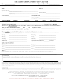 On-campus Employment Application Form