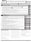 Form 8609-a - Annual Statement For Low-income Housing Credit Template