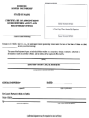 Form Mlpa-3c - Certificate Of Appointment Of Registered Agent And Reg Istered Office -domestic Limited Partnersip