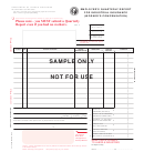Employer's Quarterly Report For Industrial Insurance (worker's Compensation) Form - Sample - 2005