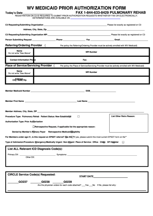 top 26 medicaid prior authorization form templates free to