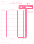 Employer's Report Of Wages Form - Amended - 2001