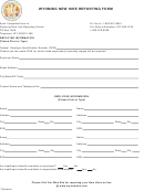 Wyoming New Hire Reporting Form