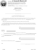 Form 121-btw - Resolution Of Withdrawal Of Business Trust By The Trustees Form - State Of Ohio