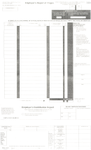 Employer's Report Of Wages Form - 2001 - Exp. April, 2003