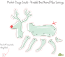 Cut-out Reindeer Template