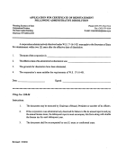 Application For Certificate Of Reinstatement Following Administrative Dissolution Form - Wyoming Secretary Of State