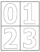 Number Coloring Template