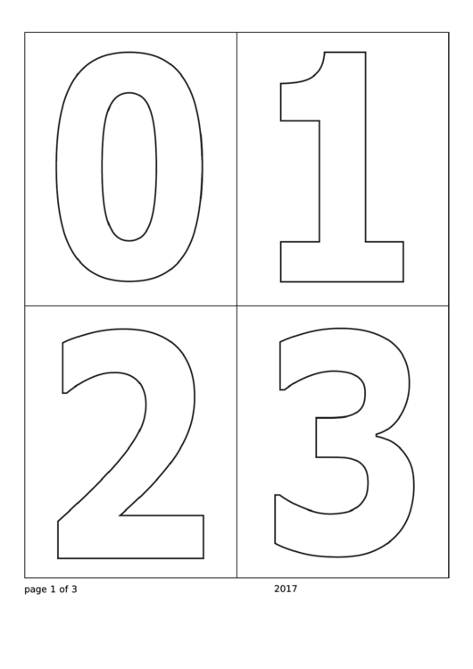 Number Coloring Template Printable pdf