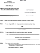Form Mbca-3 - Change Of Clerk Only Or Change Of Clerk And Registered Office - Maine Secretary Of State