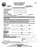 Form Gsr-01 - Request Of Statement Of Good Standing - State Tax Department - West Virginia