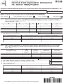 Form It-398 - New York State Depreciation Schedule For Irc Section 168(k) Property - New York State Department Of Taxation And Finance - New York