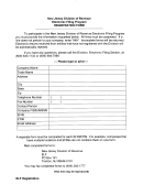 Electronic Filing Prorgam Registration Form - New Jersey Division Of Revenue