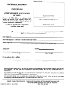 Form Mllc-l -application For Reservation Of Name - State Of Maine