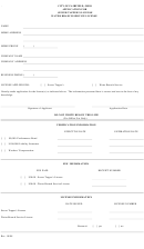 Application For Sewer Tapper''s License - Water Branch Service License Form