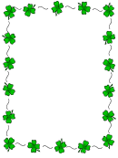 St. Patrick's Day Page Border Template