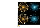 Fireworks Display Template Border