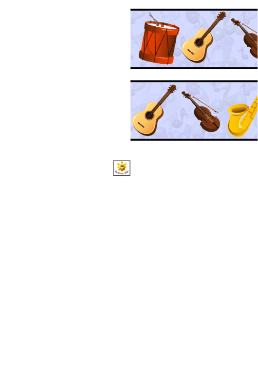 Muical Instrument Border Template For Displays Printable pdf