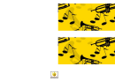 Yellow Music Border Template For Displays
