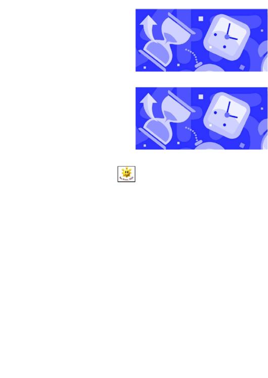Blue Time Border Template For Displays Printable pdf