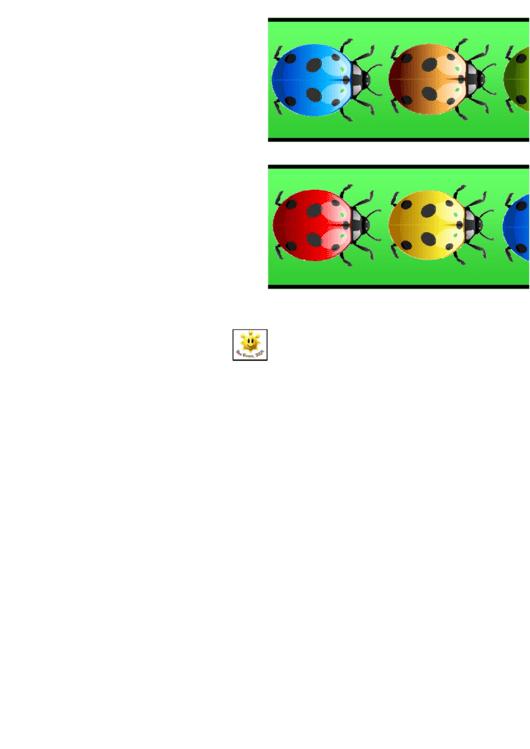 Rainbow Ladybird Border Template For Displays Printable pdf