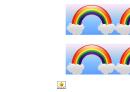 Rainbow Border Template For Displays